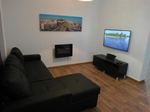 Sofa and 3D TV, DVD, MP3